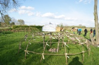 de yurt in de natuur - le yurt dans la nature